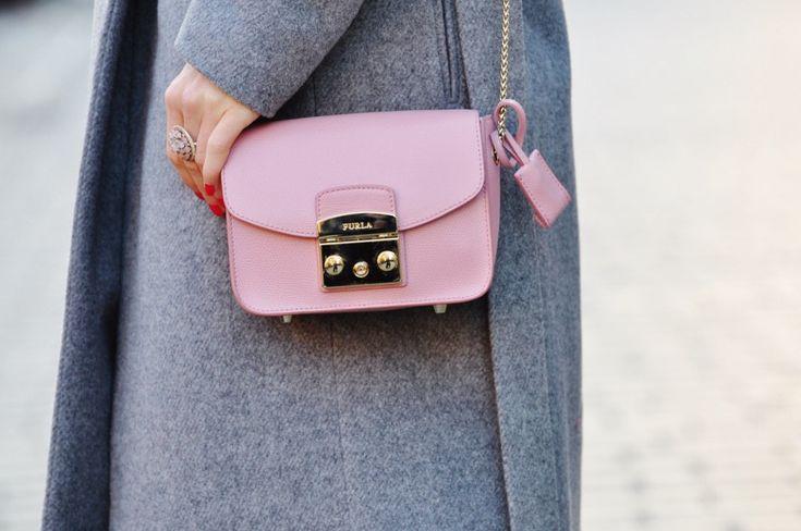 fashionable.com.pl style, fashion, stylizacja, Mango, grey, szary, Furla, bag,