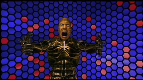 When my lawn mower or various other garden equipment fail on me, I turn into this guy, as depicted in The Lawnmower Man (1992).
