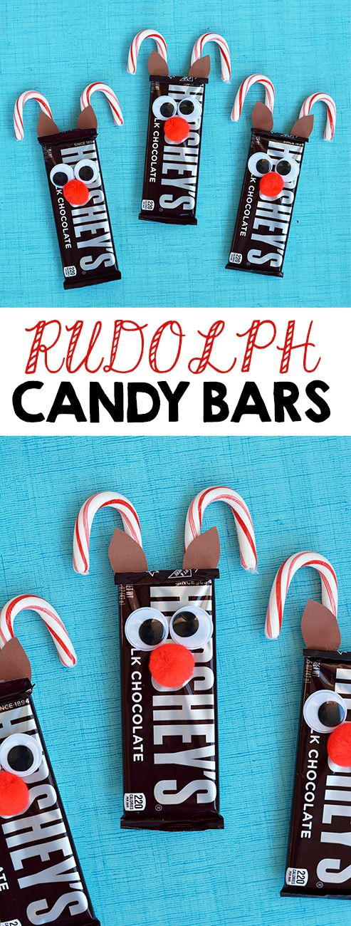 Christmas Crafts Ideas For Gifts Part - 42: Xmas Gifts · Rudolph Reindeer Candy Bars