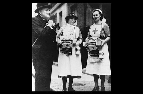Winston Churchill supports St John Ambulance fundraisers during WWII