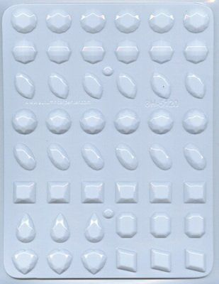 Assorted Gems Hard Candy Mold by Ck Products 8H-5120