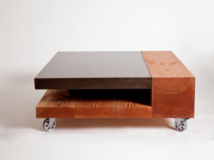 Concrete meets wood