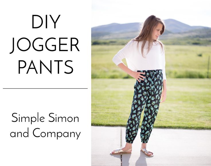 DIY Jogger Pants - Simple Simon and Company