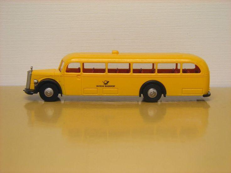 Brekina HO 1/87 scale Mercedes Benz O 5000 Bus Deutsche Bundespost. #Brekina