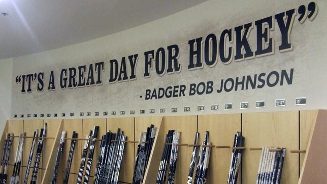 "Badger Bob Johnson quote ""It's a great day for hockey"""