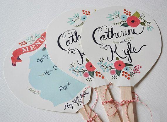 Abanicos para bodas pintados a mano