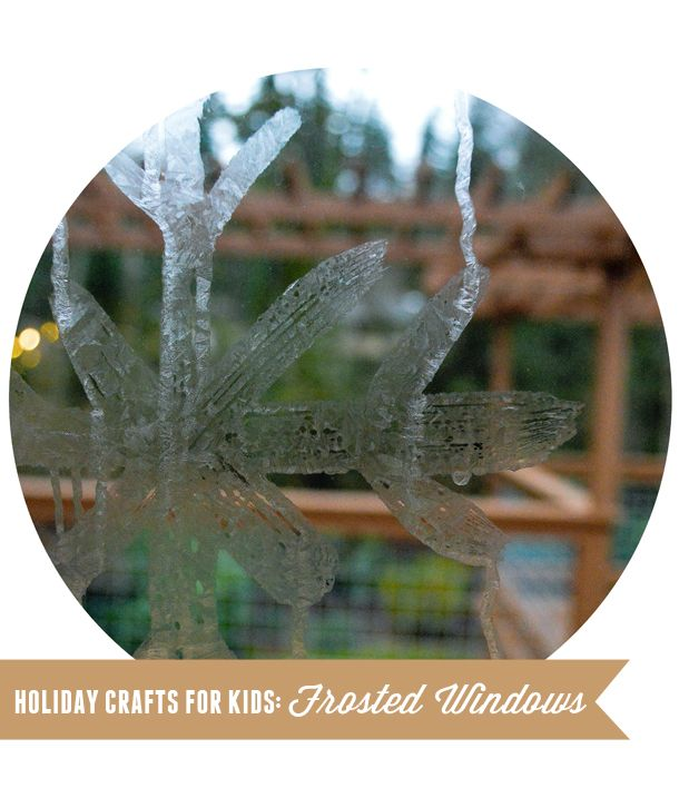 Play Jack Frost with the kids using this simple recipe for faux frost (from Randi @ Swoon)