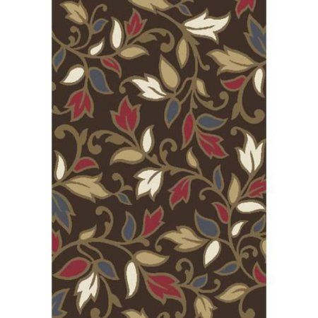 Home Dynamix Reaction Collection HD4950 Modern Area Rug, Brown