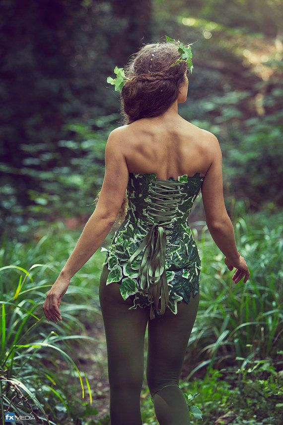 Ivy costume corset/ Mother nature for cosplay von LyndseyBoutique