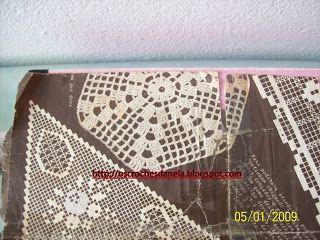 os croches da Nela: Grafico da toalha redonda seis gomos