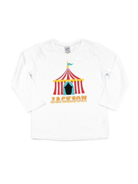 Personalized Circus Birthday T Shirt