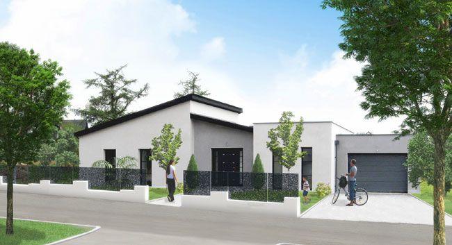 Plain-pied contemporain : une réalisation Maison Habitat Plus