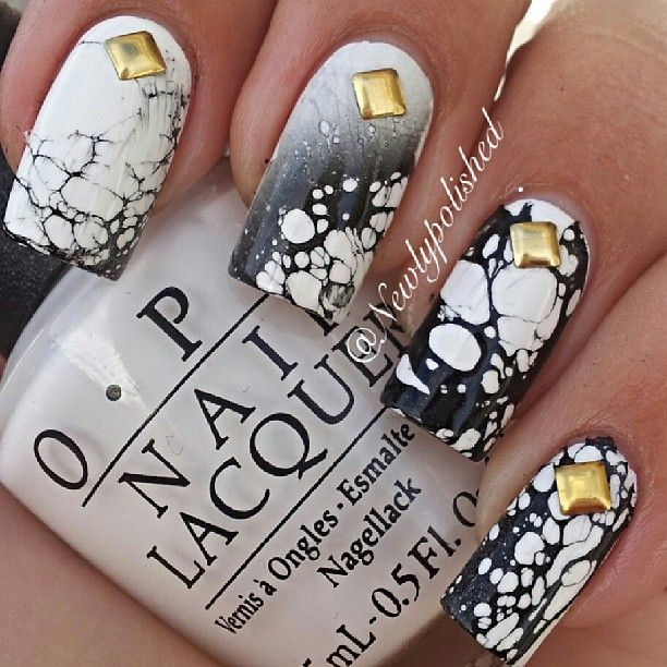 nice effect using water and hairspray.  tutorial above on my board, or go to nail site on pic./nk