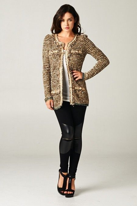 Amberly Purl Knit Cardigan on Emma Stine Limited