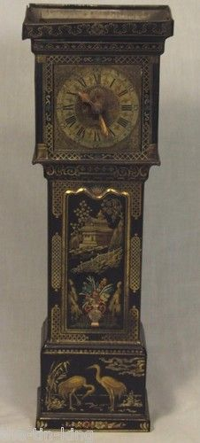 "RARE Vintage Antique Huntley Palmers""Grandfather Clock""Figural Biscuit Tin C1929 