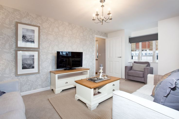 The living room in The Sheringham at Bramble Chase in Honeybourne | Bovis Homes