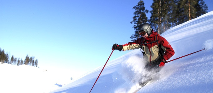 Experience the rush of downhill skiing in Kainuu