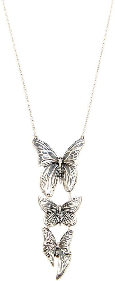 Georg Jensen x Jordan Askill Oxidized Silver Triple Butterfly Pendant