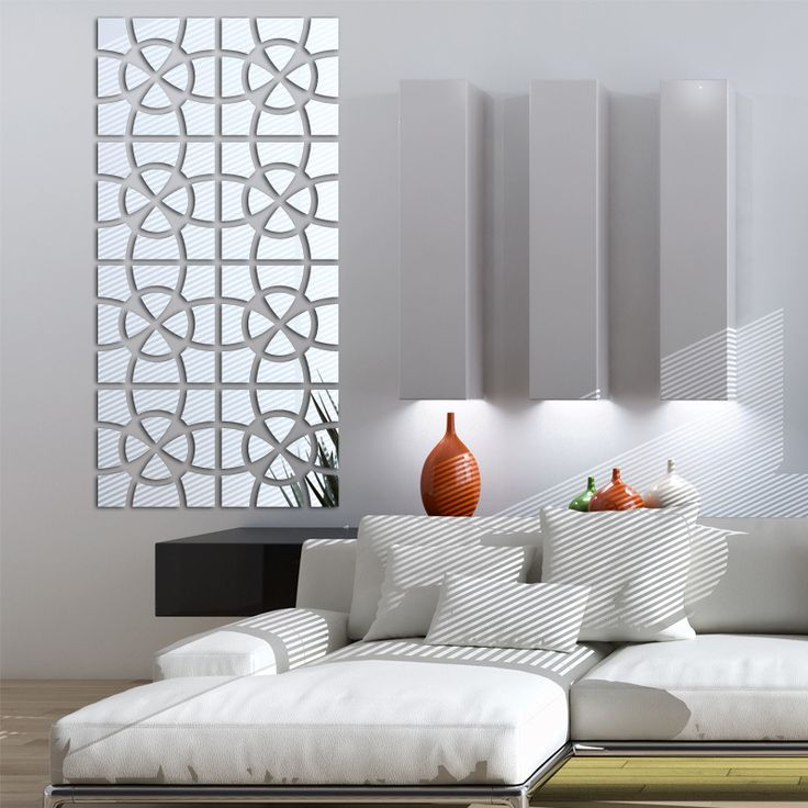 Splicing Graphic Square Shape 3D Acrylic Mirrored Decorative Sticker Mural Miroir Wall Decals Quotes Art