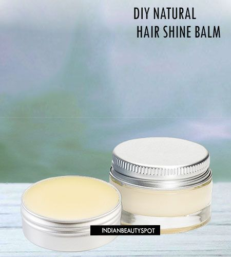 DIY Natural hair shine balm. Smooth frizz and add shine to  your hair with this natural leave in conditioner.