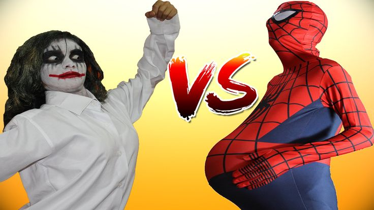 Spiderman PREGNANT & Pink Spidergirl vs Joker w/ Hulk Superheroes in Rea...