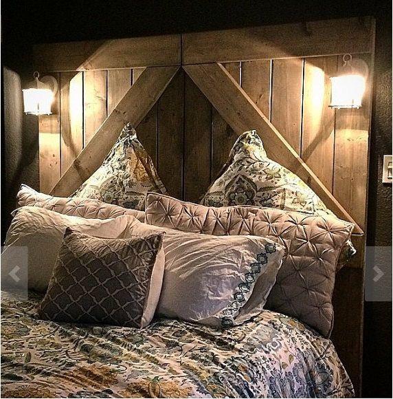 Rustic // Barndoor // Headboard // Divider Doors // Home // Rusic Decor // Rustic Furniture by MAYHEMFURNITURECO on Etsy