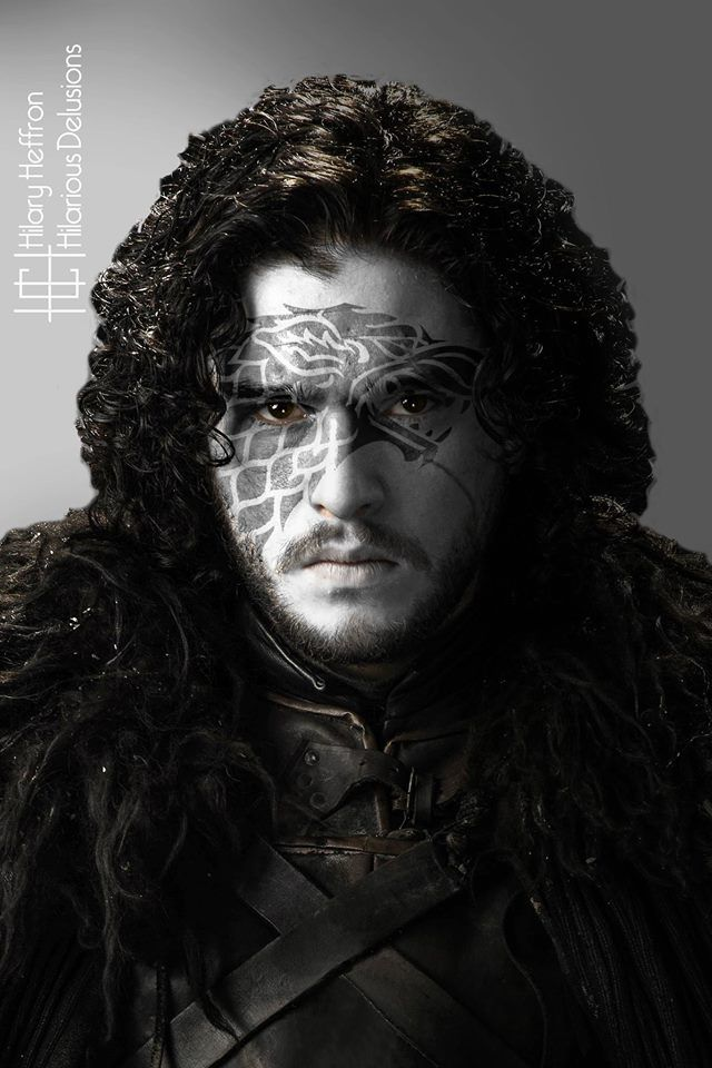 Jon Snow (Winter Edition)    Game of Thrones War Paint by Hilary Heffron - Hilarious Delusions