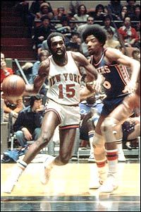 Earl Monroe. Never been another like him. Dr. J guarding him. Wish this was video!