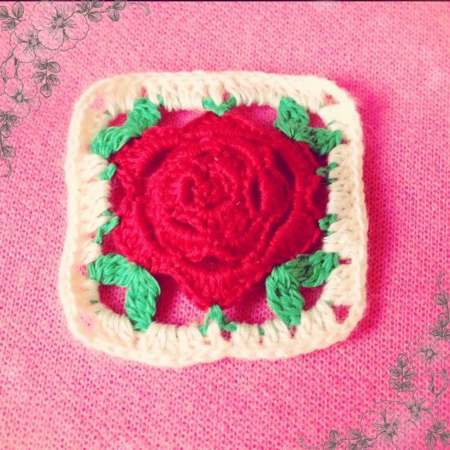バラのクロッシェ3段目~rose crochet~