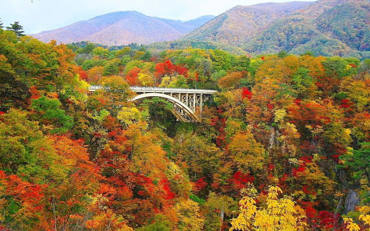 Miyagi 8. Naruko Gorge (鳴子峡 – naruko-gyou) – A gorge with a depth of a hundred meters running for 2.5 kilometers. It is best known for its red, yellow and green foliage during autumn. Yamagata 9. Mount Haguro Goju Pagoda (羽黒山五重塔 – hagurosan-gojuu-tou) – This pagoda, at 600 years old, is said to be the oldest in the …