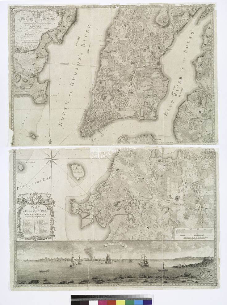 North America Map In 1750%0A     Plan of the city of New York in North America