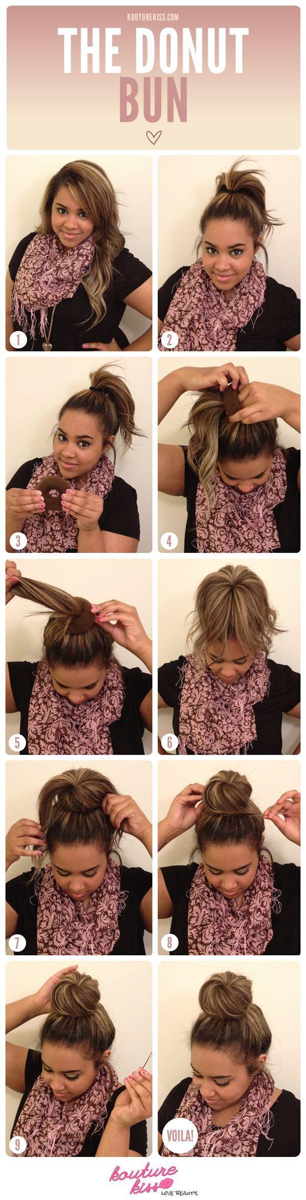 Miraculous 1000 Ideas About Donut Bun Hairstyles On Pinterest Donut Bun Short Hairstyles For Black Women Fulllsitofus