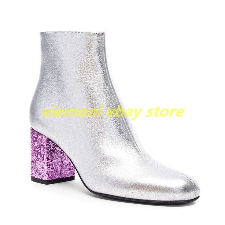 17 Best ideas about Silver Ankle Boots on Pinterest | Metallic ...
