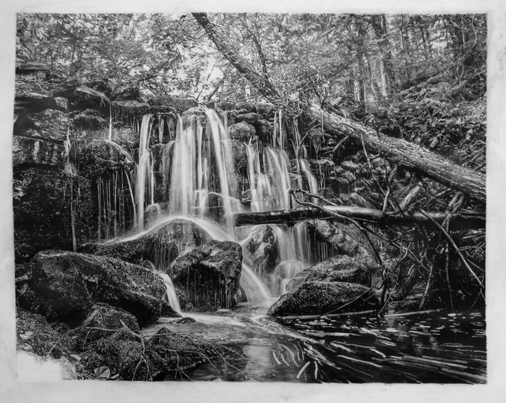 Waterfalls - Pencil Drawing.  The beautiful piece of art took 350+ hours to create.