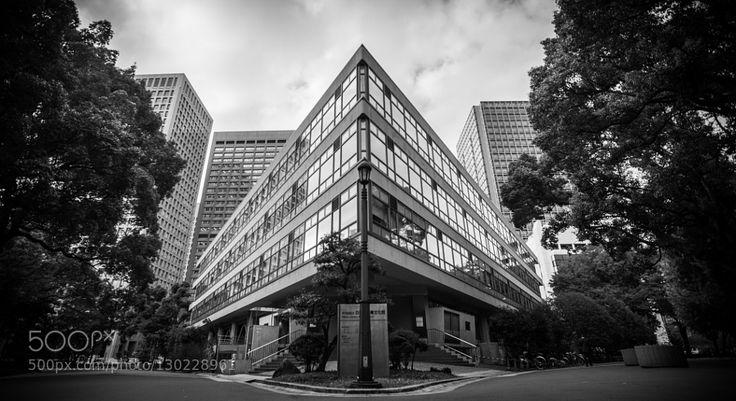知的武装 - Battleship with Knowledge - The nearest Library from my work place nemed Hibiya Library in TOKYO JAPAN.