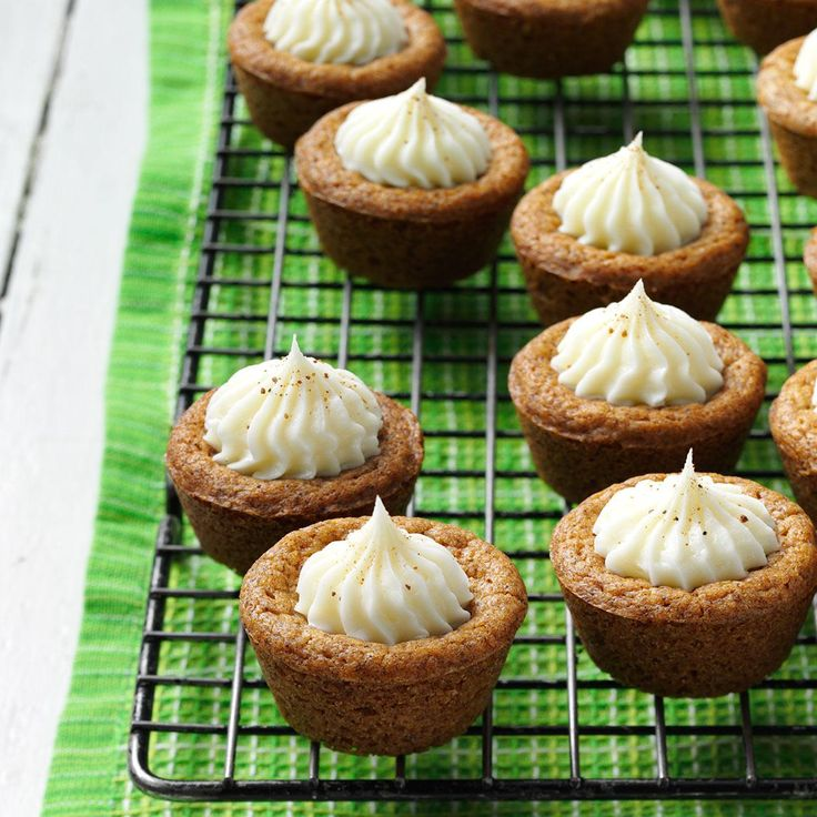Gingerbread Cookie Bites Recipe -I transformed store-bought cookie mix into mini tarts similar to gingerbread brownies. For garnish, try chopped crystalized ginger or a sprinkle of cinnamon and nutmeg. —Shenae Pulliam, Swansea, South Carolina