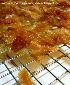 Resep manisan jahe yang mudah dibuat, sedap dan ampuh mengusir mual dan masuk angin.