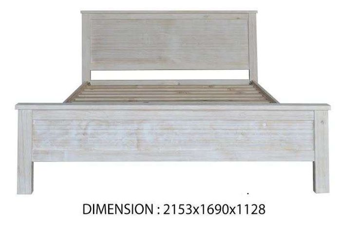 QUEEN SIZE WHITEWASH  SOLID TIMBER BED FRAME visit our website now for more information, Furniture Designs at affordable rates.
