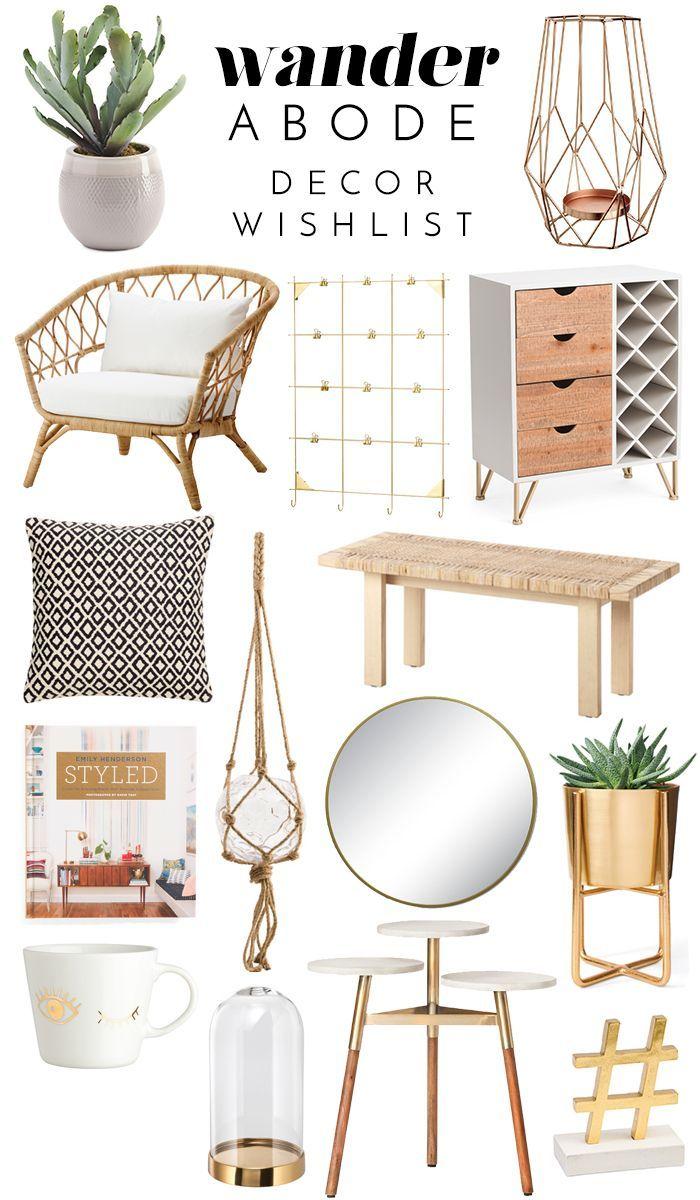 Wander Abode Decor Wishlist Ikea Stockholm Project 62 Home Goods Hausdekor Wohnzimmer Wohnung Dekoration Amazon Home Decor Home Decor Chic Bedroom Decor