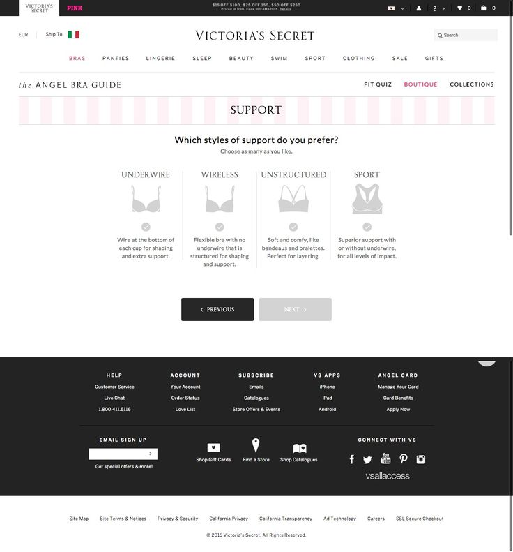 #shoppingGuide VS - The Angel Bra Guide - Create your Boutique