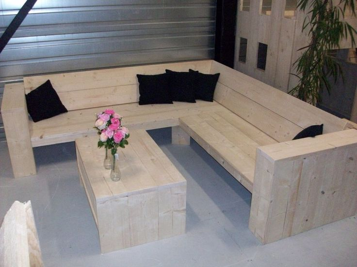 Scaffold Board Furniture - DIY Package for a big Corner- Lounge-Garden-Sofa