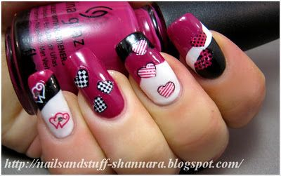 Valentines nails by Nails and Stuff