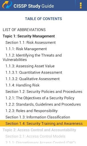 TestKing Study Guide For ISC CISSP Exam, Demo versionCertified Information Systems Security Professional-'Is this app for me?'- If you want a demo version of TestKing's preparation guide for your CISSP exam, then YES! Let us tell you more… Looking for the best way to prepare for your CISSP exam? If you want to become ISC Certified Information Systems Security Professional, way to go! Yet, you're about to face some hard work... Don't let it discourage you as TestKing makes exam...