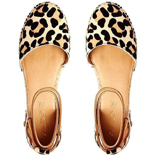 ALDO Zanca Leopard Print Strap Espadrille Flats