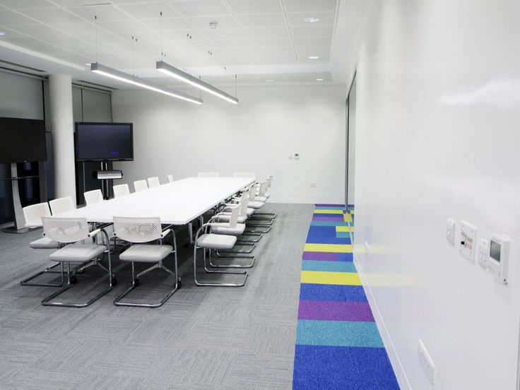 Walls covered with whiteboard paint at SAP