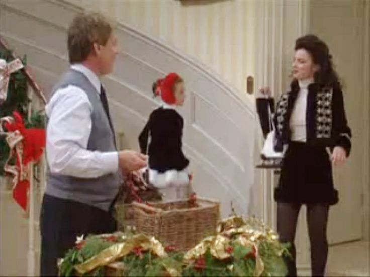 Both Gracie and Fran are wearing perfect ice skating outfits!!  22 - The Nanny Velvet Brocade Skirt Suit