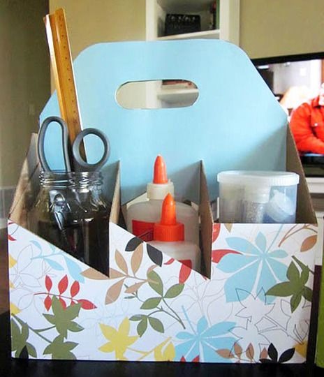 Caddy as featured on Apartment Therapy- great idea for wine caddies you get at…