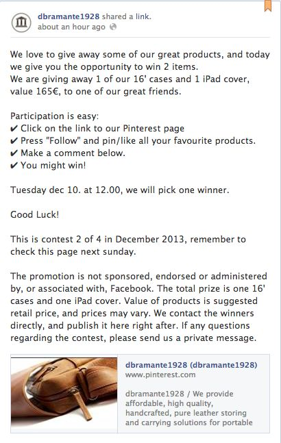 2. december contest, please join our facebook page and enter the contest.