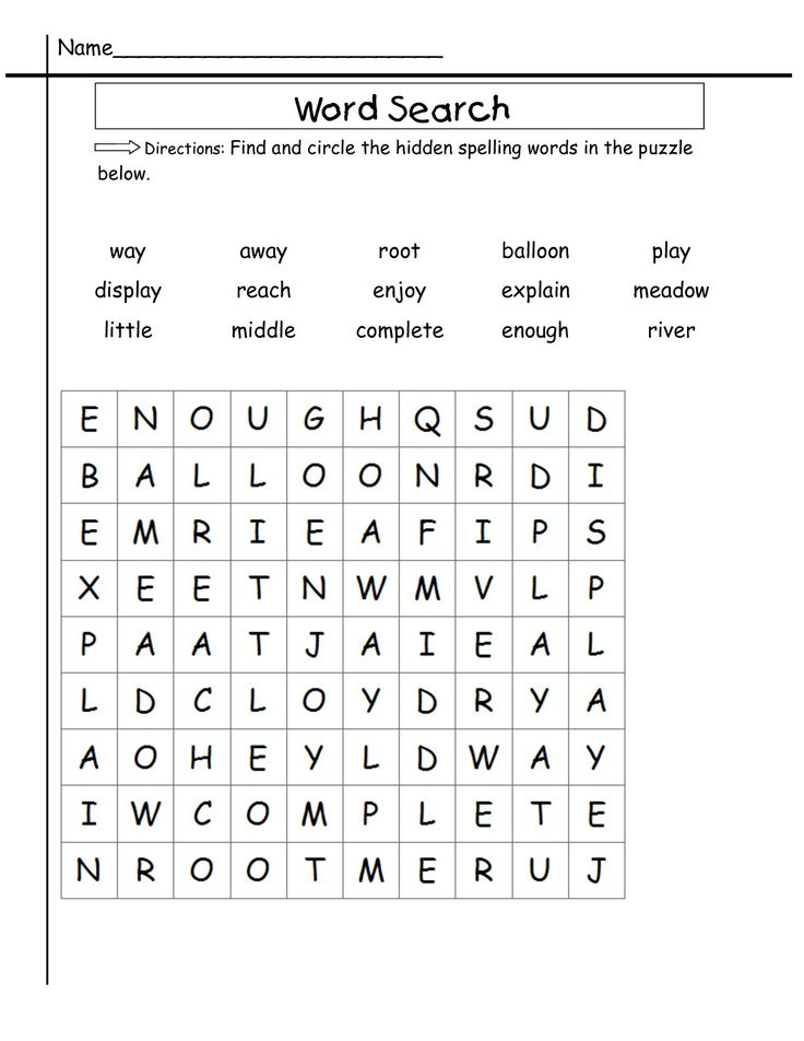2nd Grade Word Search Best Coloring Pages For Kids