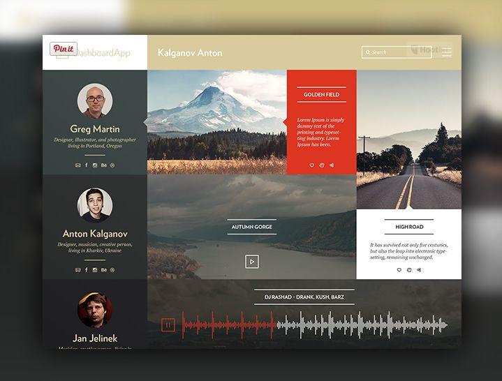 Dashboard App Concept